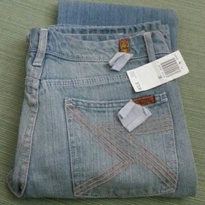 7 FOR ALL MANKIND NEW BOOT JEANS STRETCH MADE USA